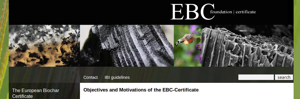 European Biochar Certificate